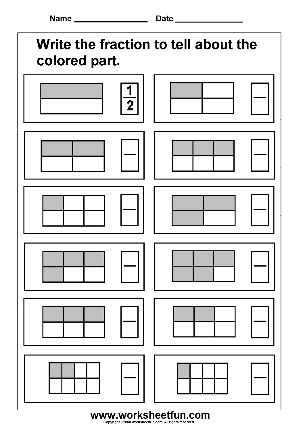 Multiplying Fractions With Models Worksheets