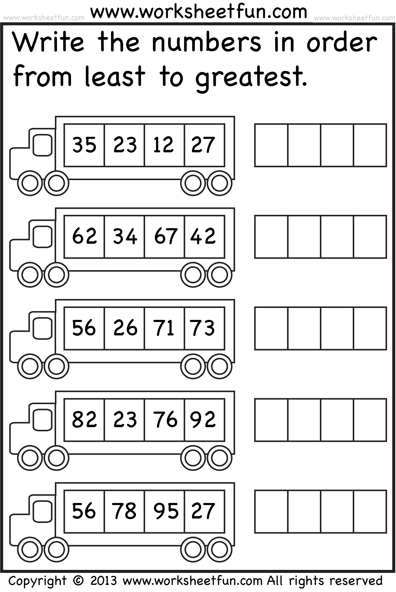 Arranging Fractions From Least To Greatest Worksheets ...