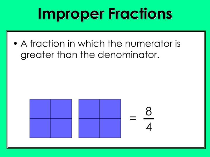 A Improper Fraction With Denominator 9 Is