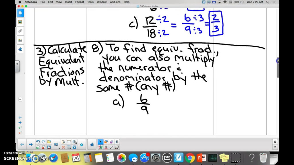 2 3 Equivalent Fractions Lessons YouTube