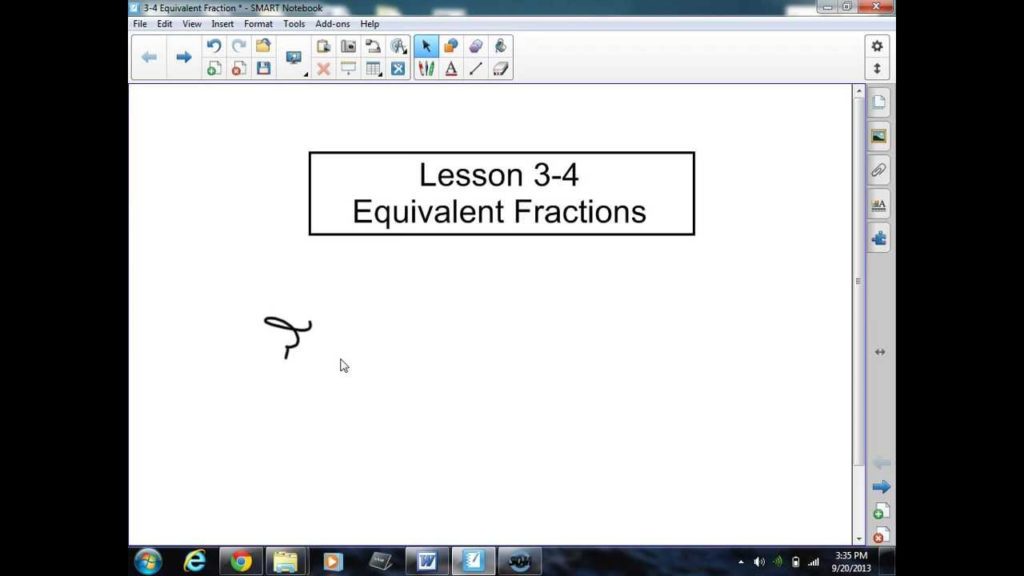 3 4 Equivalent Fractions YouTube