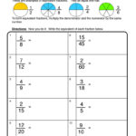 Equivalent Fractions Worksheet Write Have Fun Teaching