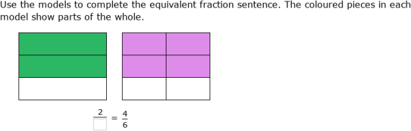 Equivalent Fraction Using Area Models