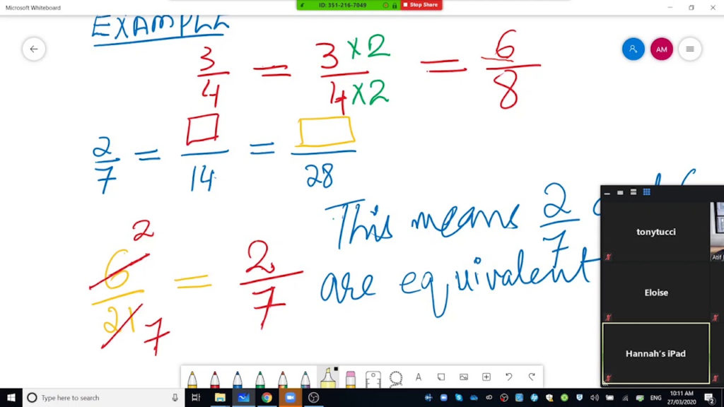 Online Lecture On Fraction Equivalent Fraction Simplest