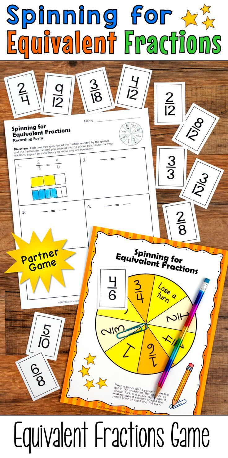 Spinning For Equivalent Fractions Is A Fun Partner