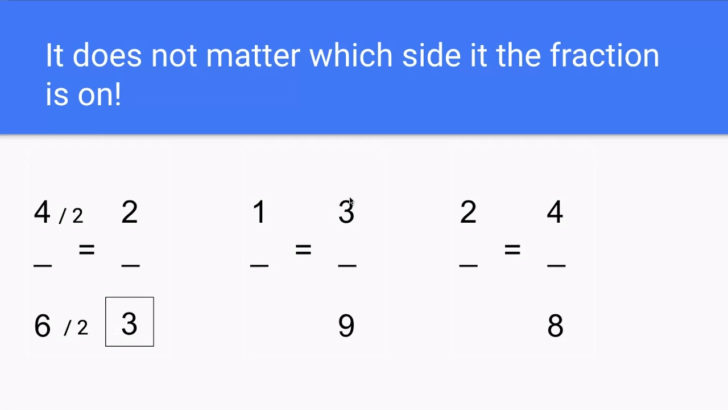 Equivalent Fraction Division