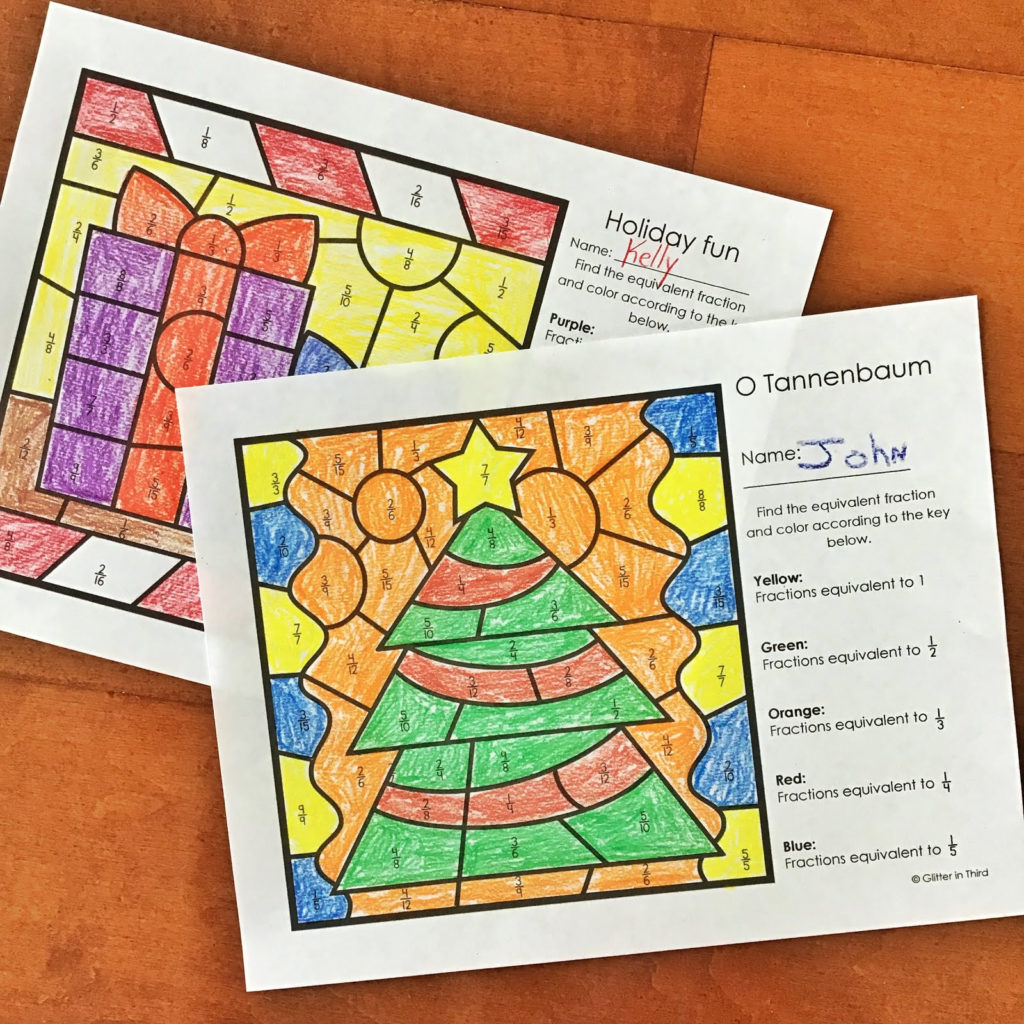 Want A FREE Equivalent Fractions Color By Number Activity